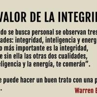 El valor de la integridad