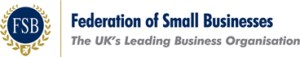 Logo and tagline for the Federation of Small Businesses (FSB)