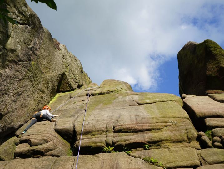 Rock climbing at The Roaches