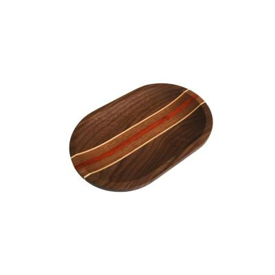 Walnut Oval Valet Dish