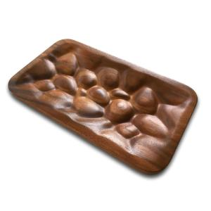 Walnut River Rock Valet Tray