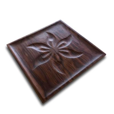 Walnut Square Flower Tray