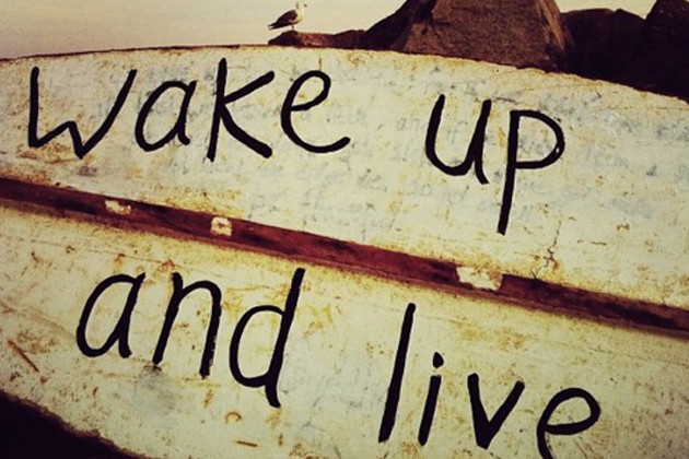 1 wake up and live