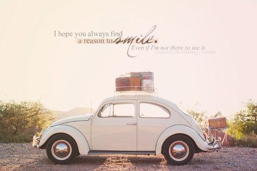 Hope Smile Vw Beetle Travel Love Relationship Friendship