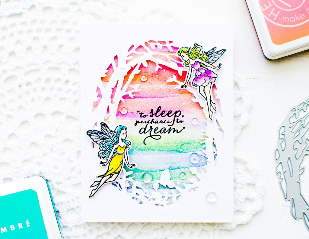 DIY Fairyland Themed Card using Watercoloring