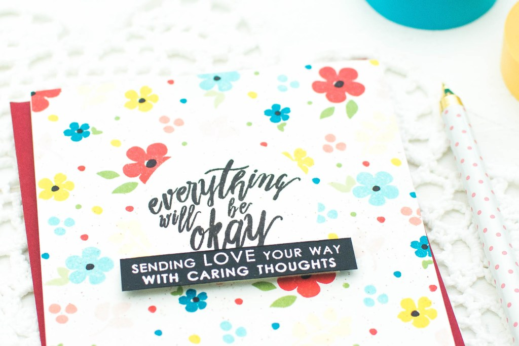 Diy Handmade Card Encouragement Card With Altenew Stamps Video