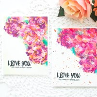 Video : Watercolor Floral Card w/ Colored Embossing