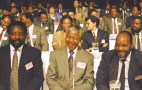 Cyril Ramaphosa, Nelson Mandela and Jacob Zuma during CODESA.