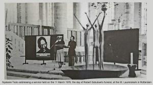 Nyakane Tsolo at Rotterdam on Robert Sobukwe's Funeral Day 11 March 1978