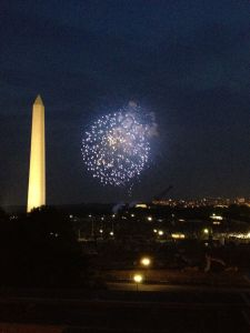 fireworks on the mall