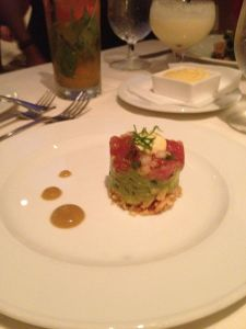 ahi & avocado stack