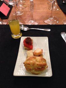 """breakfast"" amuse-bouche"