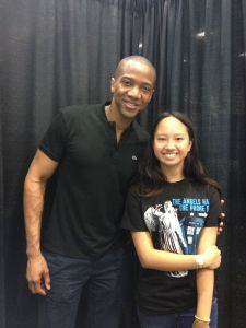 Jade with August Richards (aka Deathlok)