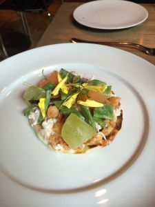 Tartine of Dungeness crab