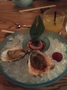 oysters & tuna tartare