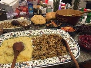 stuffing & mashed potatoes