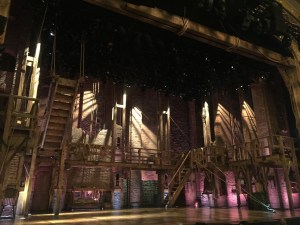 the set for Hamilton