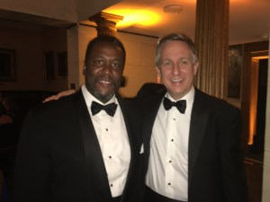 Jim with actor Wendell Pierce