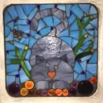 Mosaic nutty grey cat
