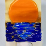 Fused Glass Orange Sunset Nightlight