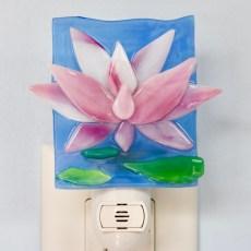Lotus Glass Night Light