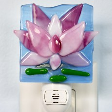 Lotus Fused Glass Night Light