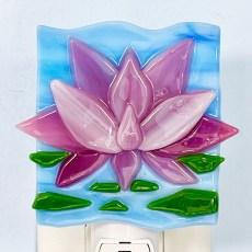 Lotus Fused Glass Night Light