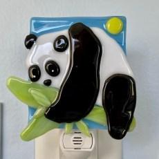Panda Fused Glass Night Light