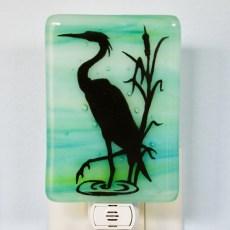 Egret Fused Glass