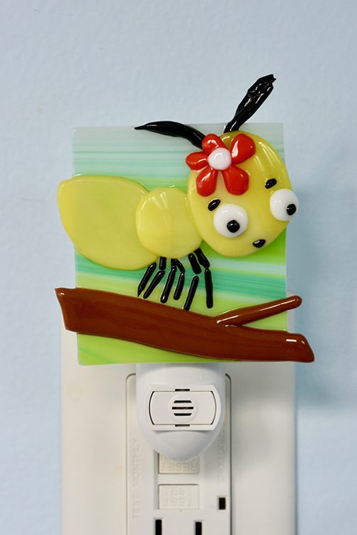 Fused Glass Ant Night Light