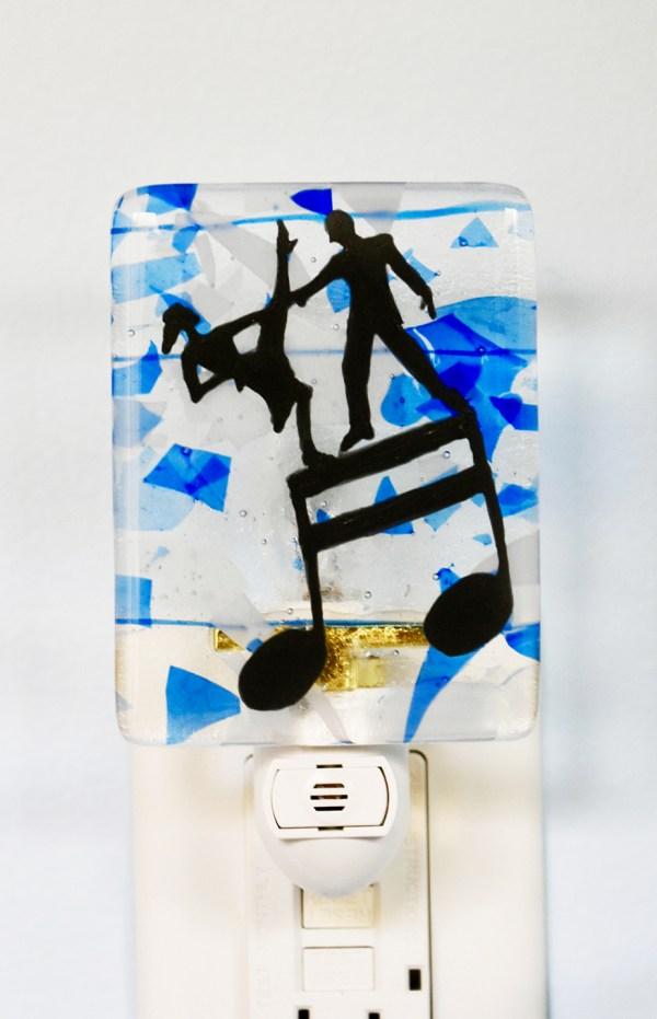 Dancers Fused Glass