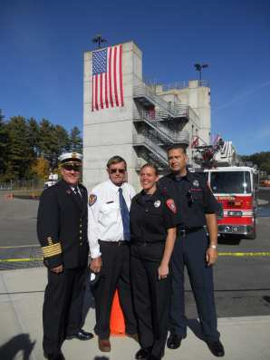 Firefighter Angela Lawless graduating from the Massachusetts Fire Academy.