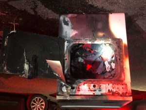Clothes Dryer Damaged by Fire
