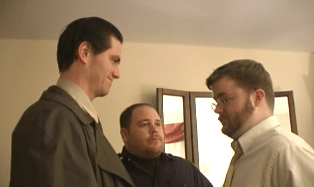 (from left to right) Paul Coughlan, Brian Beck and Michael Sheridan in 'Murder by Accusation'