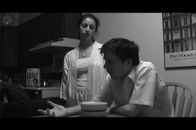 Susan Dahl as 'Susan' and Marshall Sharer as 'John Smith' in 'Prologue'.