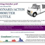 Maynard/Acton Commuter Shuttle Pilot Program is UP AND RUNNING!