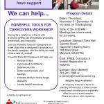 FREE 6-Week Caregivers Workshop Sponsored by Minuteman Senior Services