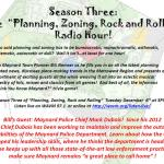 Chief Mark Dubois Guest-Stars on Today's Planning, Zoning, Rock & Rolling Radio Hour
