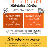 Cultural District Stakeholder Meetings