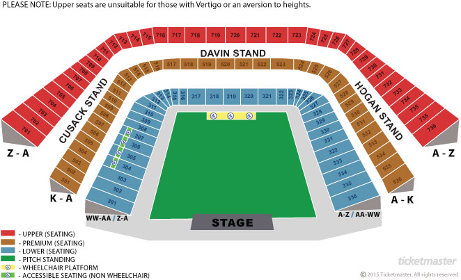 croke park seating plan with rows
