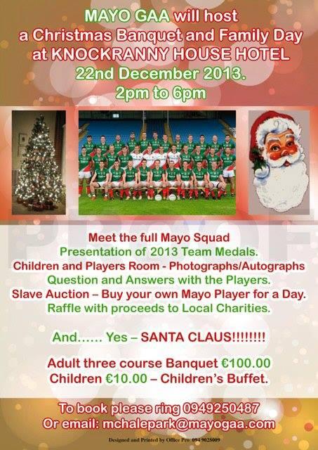 Mayo GAA Christmas Banquet 2013