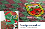 Sea of green and red logo