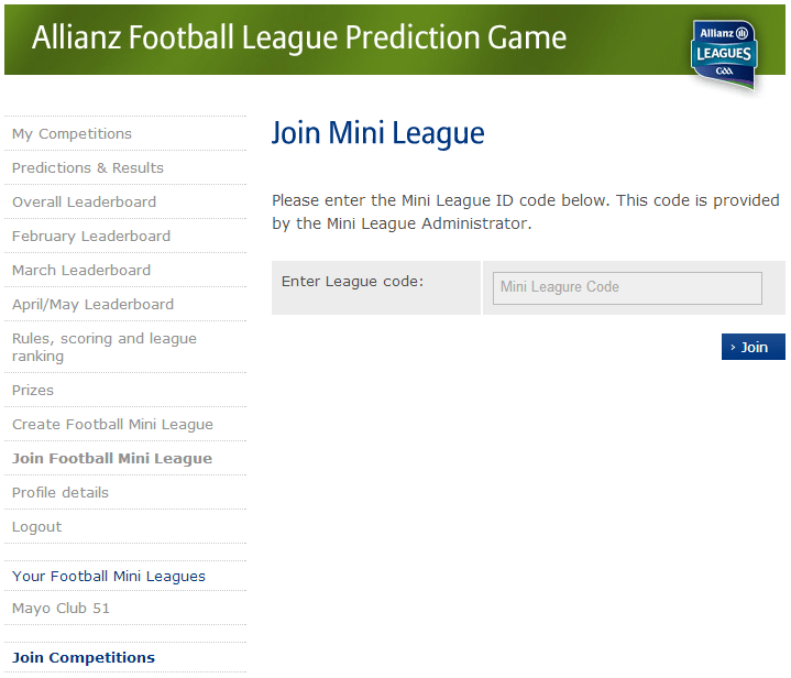 join mini league