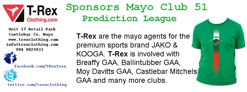 Mayo Club 51 Prediction League Week 3