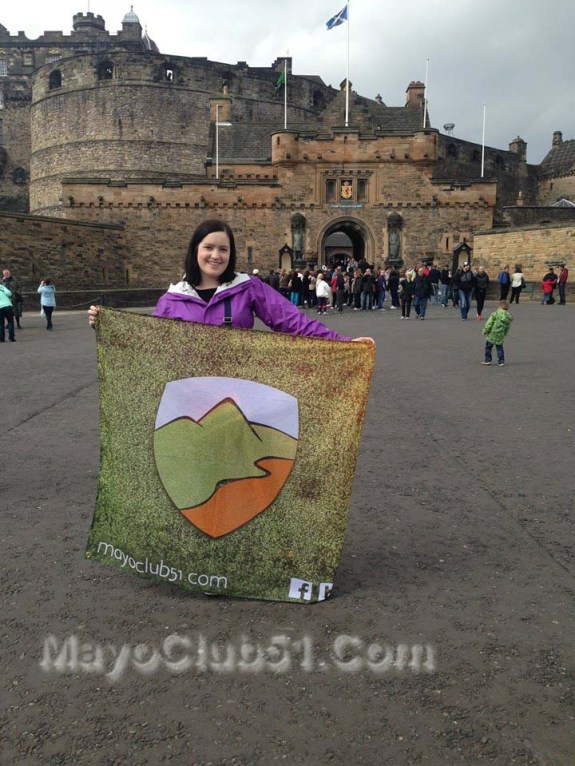 Mayo fans at Edingburgh Castle