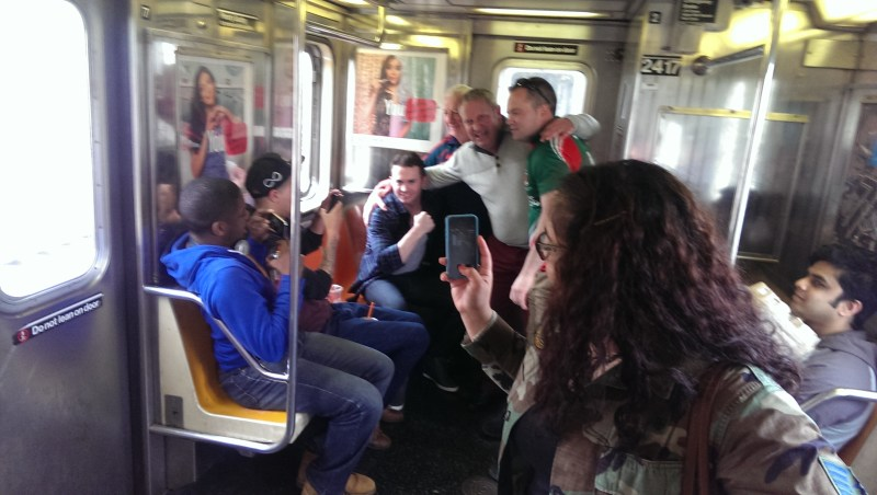 Mayo GAA New York Subway