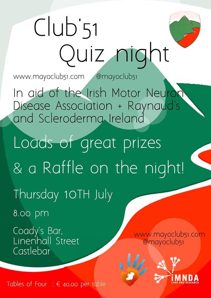Mayo club 51 quiz night poster