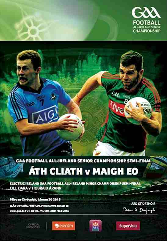 mayo v dublin all ireland semi final 2015 match programme