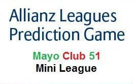 allianz leagues prediction mini league mayo club 51 logo