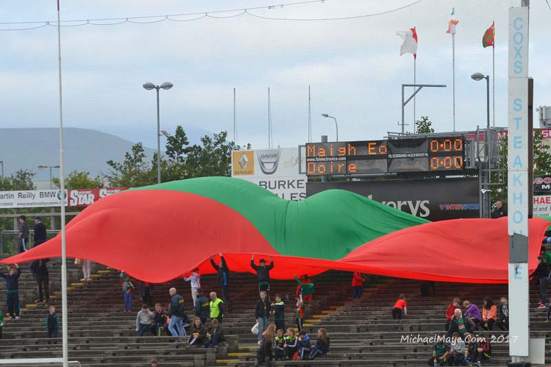 Mayo flags at Mayo v Derry in MacHale Park Castlebar